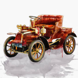 Marian Voicu - Oldtimer Car watercolor