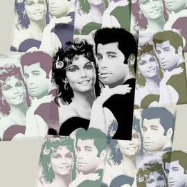 Tony Rubino - Olivia Newton John and John Travolta in Grease Collage