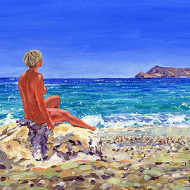 Margaret Merry - On the beach at San Pedro