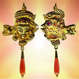 Hartmut Jager - One Gold Sculpture Pendant