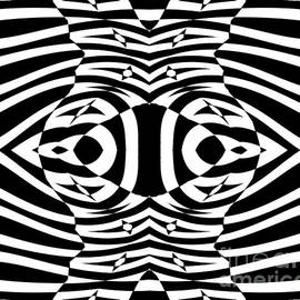 Drinka Mercep - Op Art Black White Geometric Pattern No.265.