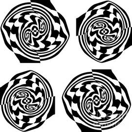 Drinka Mercep - Op Art Black White No.24