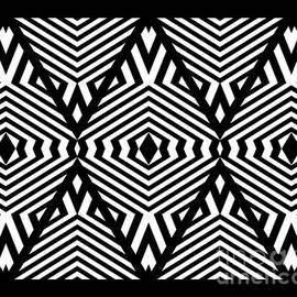 Drinka Mercep - Op Art Black White Pattern Print No.336.