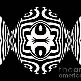 Drinka Mercep - Minimalist Geometric Black White Abstract Art No.271.