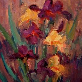 R W Goetting - Orange and purple iris