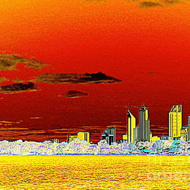 Roberto Gagliardi - Orange and Yellow Perth Skyline