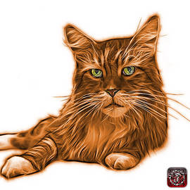 James Ahn - Orange Maine Coon Cat - 3926 - WB