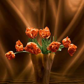 Johnny Hildingsson - Orange tulips in floating room