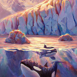 Karen Whitworth - Orca Sunrise at the Glacier