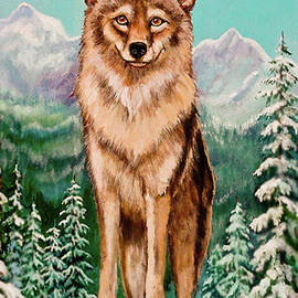 Bob and Nadine Johnston - Original Painting Wiley Coyote For Sale