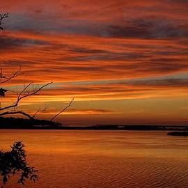 Richard Rosenshein - Outer Banks Sunset Over The Bay And Colington Island