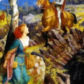 Arthur Hughes - Overthrowing Of The Rusty Knight