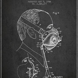 Aged Pixel - Oxygen Mask Patent from 1944 - Three - Charcoal