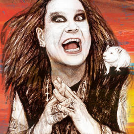 Kim Wang - Ozzy Osbourne long stylised drawing art poster