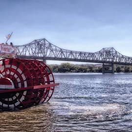 Paddle Boat The Spirit Of Peoria With Bridge
