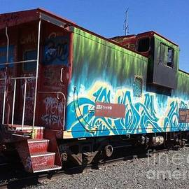 Diane  Greco-Lesser - Painted Caboose