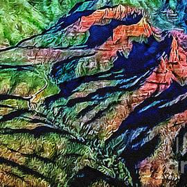 Bob and Nadine Johnston - Painting Aerial View Sedona Arizona