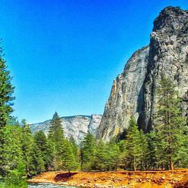 Dr Bob and Nadine Johnston - Painting Cathedral Rock Yosemite National Park