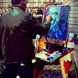 Miryam  UrZa - Painting in Madrid