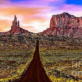 Bob and Nadine Johnston - Painting Monument Valley at Sunset