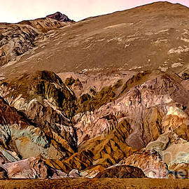 Bob and Nadine Johnston - Painting of Artists Pallete Death Valley
