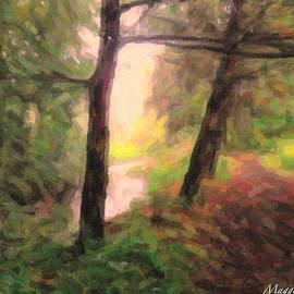Maggie Vlazny - Landscape Painting of Path into Woods