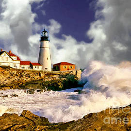 Nadine Johnston - Painting Portland Headlight Maine