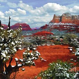 Bob and Nadine Johnston - Painting Secret Mountain Wilderness Sedona Arizona