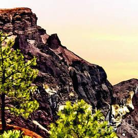 Bob and Nadine Johnston - Painting Volcanic Mountain Flagstaff Arizona