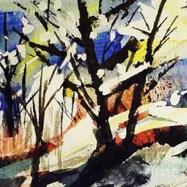 Ellen Levinson - Palenville Winter Abstract - Catskills