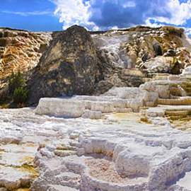 Brian Harig - Palette Spring Terrace Panorama - Yellowstone National Park Wyoming