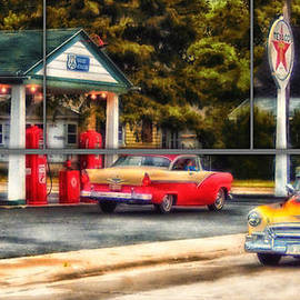Thomas Woolworth - Sample Paneled Route 66 Dwight Texaco Gas Station