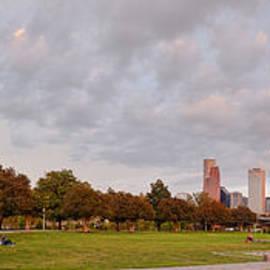 Silvio Ligutti - Panorama of Downtown Houston and Police Memorial - Houston Texas
