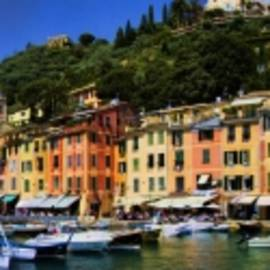 David Smith - Panorama of Portofino Harbour Italian Riviera