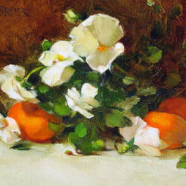 Chris  Saper - Pansies and Clementines