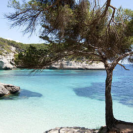 Pedro Cardona - Paradise in Minorca is called cala mitjana beach where sand is almost white and sea is a deep blue