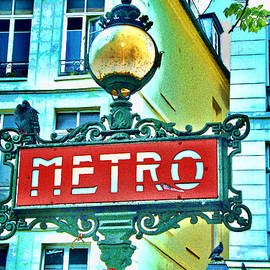 Allen Beatty - Paris Metro Sign