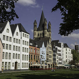 Teresa Mucha - Park View of Brewpubs and Great St Martins Church in Cologne