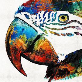 Sharon Cummings - Parrot Head Art By Sharon Cummings