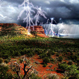 Ric Soulen - Passing Storm Near Sedona Arizona
