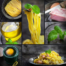 Mythja  Photography - Pasta carbonara collage