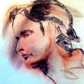 Greta Corens - Pastel Portrait of a man