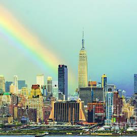 Regina Geoghan - Pastel Rainbow Over Manhattan