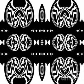 Drinka Mercep - Pattern Black White Ornament Art Print No.137