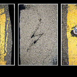 Ann Powell - Pavement Abstract Triptych photography