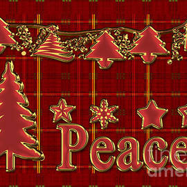 Vickie Emms - Peace Christmas Greeting Card
