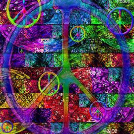 Michele  Avanti - Peace Symbol Rainbow Flag