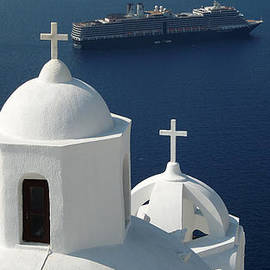 Colette V Hera  Guggenheim  - Peaceful Church Santorini Island