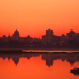 Blair Seitz - Peaceful Susquehanna River Harrisburg Skyline