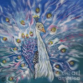 Ella Kaye Dickey - Peacock Dressed In White
